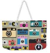 Retro Camera Pattern Weekender Tote Bag