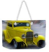 Retro Car In Yellow Weekender Tote Bag