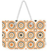 Retro Circles Pattern Weekender Tote Bag