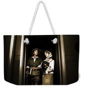 Retro Couple On Safari Weekender Tote Bag