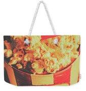 Retro Film Stub And Movie Popcorn Weekender Tote Bag