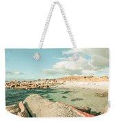 Retro Filtered Beach Background Weekender Tote Bag