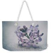 Retro Lilac Flower Weekender Tote Bag
