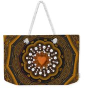 Retro Peace With Love And A Heart Of Gold Weekender Tote Bag