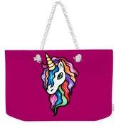 Retro Rainbow Unicorn Weekender Tote Bag