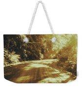 Retro Rainforest Road Weekender Tote Bag