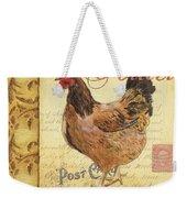 Retro Rooster 1 Weekender Tote Bag by Debbie DeWitt