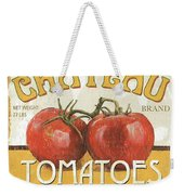 Retro Veggie Labels 4 Weekender Tote Bag by Debbie DeWitt
