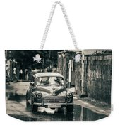 Retromobile. Morris Minor. Vintage Monochrome Weekender Tote Bag