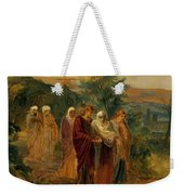 Returning From The Burial Of Christ Weekender Tote Bag