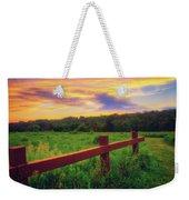Retzer Nature Center - Sunset Over Field Weekender Tote Bag