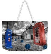 Revenge Of The Killer Phone Box  Weekender Tote Bag by Rob Hawkins