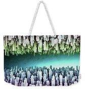 Reversible Futuristic Megalopolis City Weekender Tote Bag