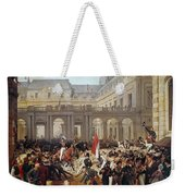 Revolution Of 1830 Departure Of King Louis-philippe For The Paris Townhall Horace Vernet Weekender Tote Bag