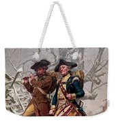 Revolutionary War Soldiers Marching Weekender Tote Bag by War Is Hell Store