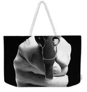 Revolver Aimed At You Weekender Tote Bag