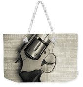 Revolver Pistol Gun Over Drawings Weekender Tote Bag