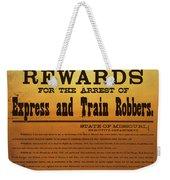 Reward For Frank And Jesse James Weekender Tote Bag
