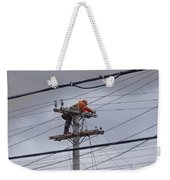 Rewiring A Power Pole Weekender Tote Bag