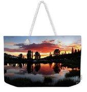 Reymann Lake Sunset - Yosemite Weekender Tote Bag