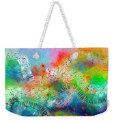 Rhapsody In Blue, And Red, And Green Weekender Tote Bag