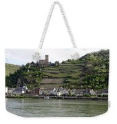 Rhine Castle And Terraced Vineyards Weekender Tote Bag