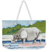 Rhino In La Weekender Tote Bag