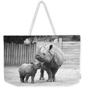 Rhino Mom And Baby Weekender Tote Bag