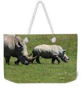 Rhino Mother And Calf - Kenya Weekender Tote Bag