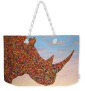 Rhino-shape Weekender Tote Bag by James W Johnson