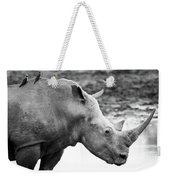 Rhino With Passengers Weekender Tote Bag