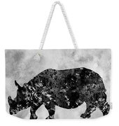 Rhinoceros-black Weekender Tote Bag