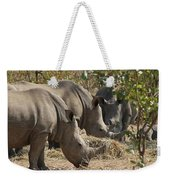 Rhinos,  Zambia Weekender Tote Bag
