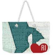 Rhode Island Cities Weekender Tote Bag