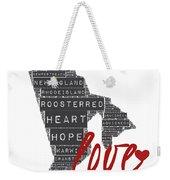 Rhode Island Love Weekender Tote Bag