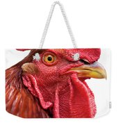Rhode Island Red Rooster Isolated On White Weekender Tote Bag