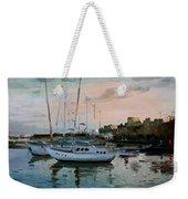 Rhodes Mandraki Harbour Weekender Tote Bag by Ylli Haruni