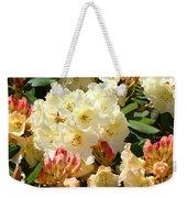 Rhodies Creamy Yellow Orange 3 Rhododendrums Gardens Art Baslee Troutman Weekender Tote Bag