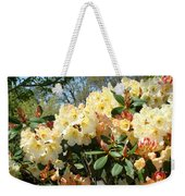 Rhodies Flowers Art Yellow Orange Rhododendrons Garden Weekender Tote Bag