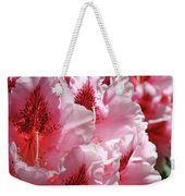 Rhodies Pink Fine Art Photography Rhododendrons Baslee Troutman Weekender Tote Bag