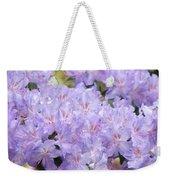 Rhododendron Floral Flowers Lavender Purple Prints Baslee Weekender Tote Bag