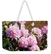 Rhododendron Flower Garden Art Prints Canvas Pink Rhodies Baslee Troutman Weekender Tote Bag