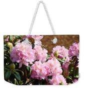 Rhododendron Garden Art Print Pink Rhodies Flowers Baslee Troutman Weekender Tote Bag