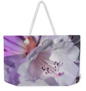 Rhododendron In White And Magenta Weekender Tote Bag