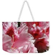 Rhododendrons Art Prints Floral Pink Rhodies Canvas Baslee Troutman Weekender Tote Bag