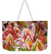 Rhododendrons Floral Art Prints Canvas Pink Orange Rhodies Baslee Troutman Weekender Tote Bag