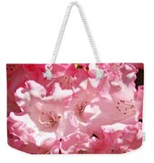 Rhododendrons Flowers Art Print Pink Rhodies Baslee Troutman Weekender Tote Bag