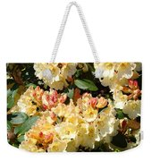 Rhododendrons Garden Art Prints Creamy Yellow Orange Rhodies Baslee Weekender Tote Bag