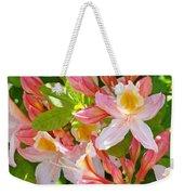 Rhododendrons Garden Floral Art Print Pink Rhodies Weekender Tote Bag