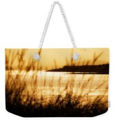 Rhos Point Viewed Through Beach Grass Weekender Tote Bag